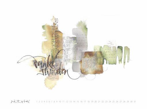 ich liebe meines Wesens Dunkelstunden Rilke Kalligrafie