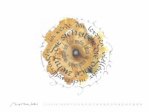 Ich lebe mein Leben in wachsenden Ringen Kalligrafie Rilke