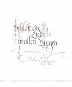 schläft ein lied in allen dingen Kalligrafie