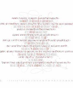lasset raum zwischen Euch Kalligrafie Khalil Gibran