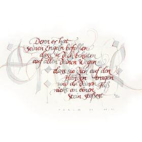denn er hat seinen Engeln befohlen... Psalm 91, 11-12