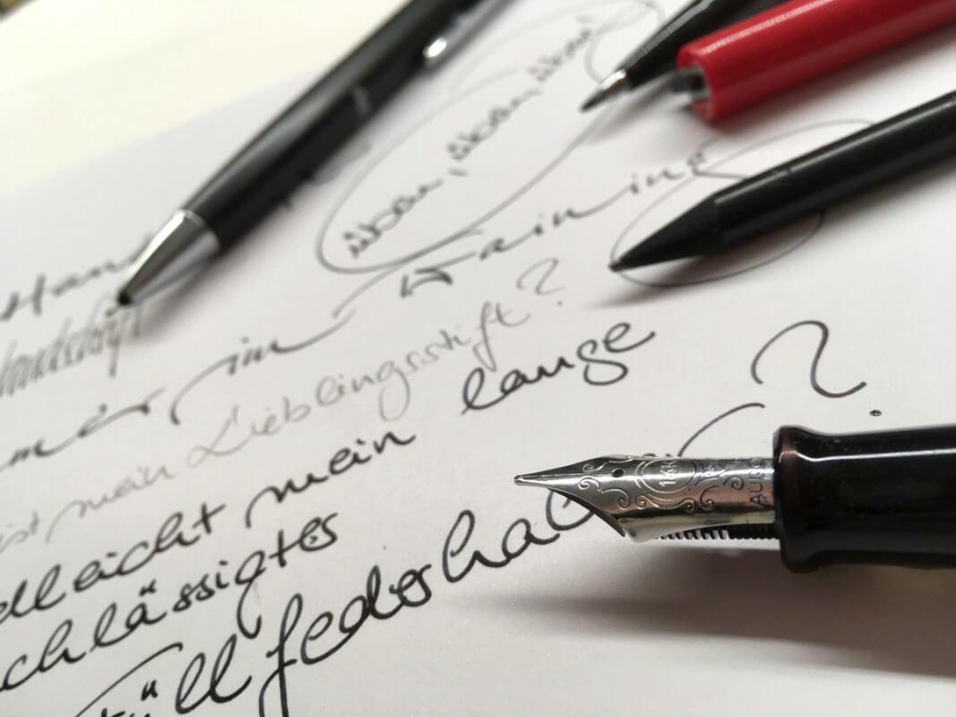 schöne Handschrift mit dem Füller