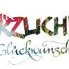 glückwunschkarte Kalligrafie