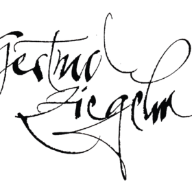 Schriftzug Gestural