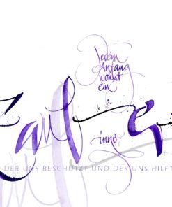 jedem Anfang wohnt ein Zauber inne Kalligrafie